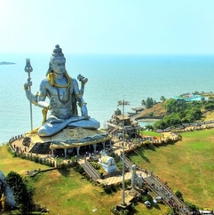 Shiva Temple Near water karnataka